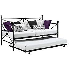 amazon com kings brand black metal twin size platform bed frame