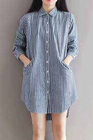 women u0027s single breasted lapel long sleeve high low high striped