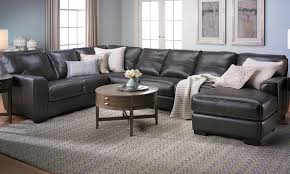 malcolm italian leather sectional with chaise the dump