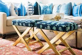 X Bench Ottoman Gold X Stool Transitional Living Room Waiting On Martha