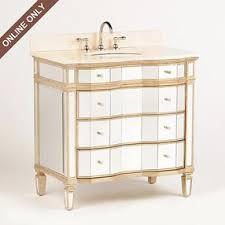 Kirklands Bathroom Vanity Gold Mirrored Winston Cream Marble Top Bathroom Vanity Sink 36in