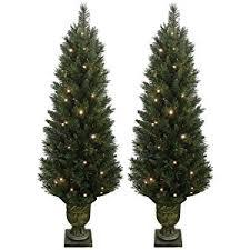 plain ideas outdoor pre lit tree 6 ft artificial trees