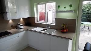 modern handleless kitchens modern handleless kitchen in cambuslang youtube