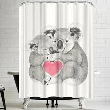 Teddy Shower Curtain Live Laugh Shower Curtain Wayfair