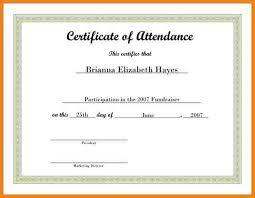attendance certificate template print perfect attendance award