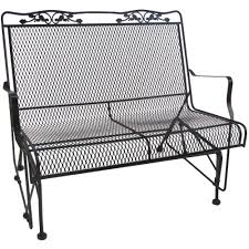 White Wicker Glider Loveseat by Glider Patio Chairs Patio Furniture The Home Depot