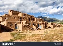 Pueblo Adobe Homes Thousand Year Old Pueblo Taos New Stock Photo 341603066 Shutterstock