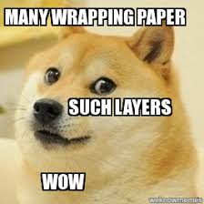 meme wrapping paper doge many wrapping paper such layers wow weknowmemes