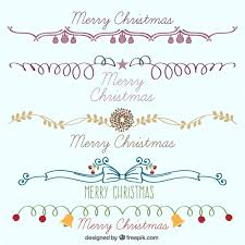 collection of hand drawn christmas borders vector free download