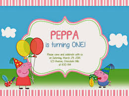 peppa pig birthday peppa pig birthday invitations cloveranddot