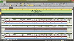 Golf Stat Tracker Spreadsheet Golf Statistics Calculator In Excel Part 1
