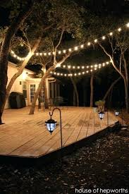 post to hang string lights how to hang outdoor string lights on deck hang patio lights across a