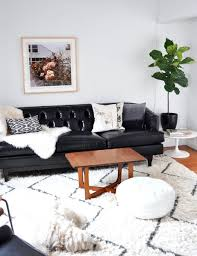 Black Leather Sofa And Chair Living Room Black Leather Pillows Living Room With Decor