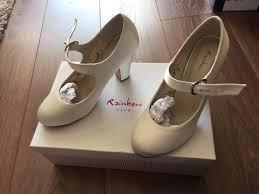 wedding shoes rainbow club rainbow club madeline wedding shoes ivory size 4 5 in bowburn
