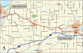 Illinois Road Map by Us 30 Fulton To Rock Falls Project
