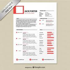 design resume template image freepik free psd creative resume templat