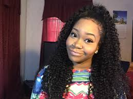 half up half down quickweave vip beauty hair 6a brazilian curly