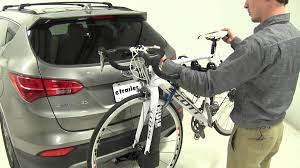 review of the thule hitch bike racks on a 2013 hyundai santa fe