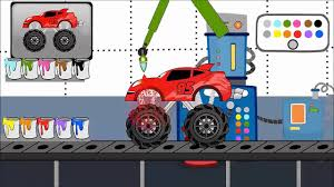 monster truck video games for kids learn spanish colors game rojo red in spanish color names