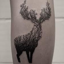 black line work deer by oliver whiting deer