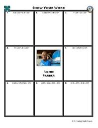 puzzle operations with scientific notation richie parker worksheet