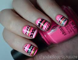 pink and gold aztec nails girly on we heart it
