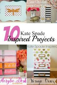 check out these very do able kate spade inspired projects