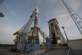 russian soyuz poised for 1st blastoff from europe u0027s new south