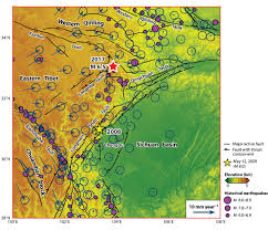 Kunlun Mountains Map M 6 5 Earthquake Strikes Southwestern China Earth Observatory Of