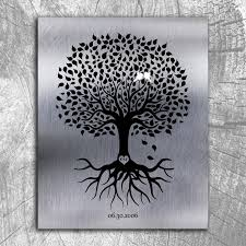 tenth anniversary gifts 10th anniversary personalized ten year tin wedding tree shiny