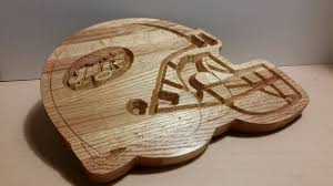 buy a hand crafted football helmet cutting board made to order