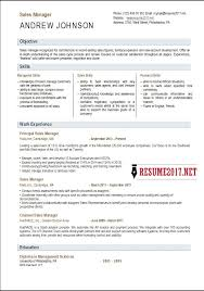 sales manager resume template sales manager resume template 2017
