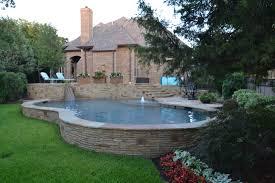 build a pool house southlake freeform pool on hillside farleypooldesigns com 817