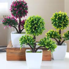 hyson shop decorative flower small bonsai pot planters artificial