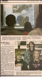 online pe class high school online collaberation chs pe class
