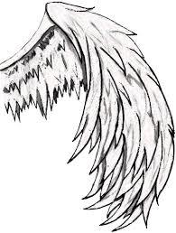 simple angel wings drawing