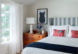 Cottage Bedroom Design Maine Beach House With Classic Coastal Interiors Home Bunch