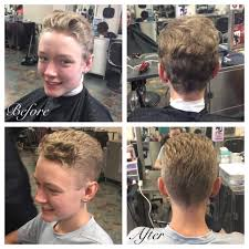 haircut on naturally curly hair using a 4 with a low fade of a 3