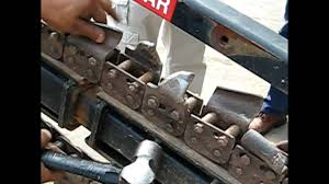 trencher chain installation youtube