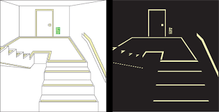 code approved photoluminescent exit egress path signs u0026 stair