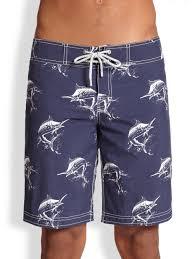 vilebrequin ocean swordfish print swim trunks in blue for men lyst