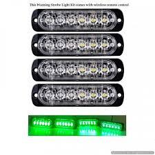 led strobe light kit super slim led green warning strobe grille light kit automo