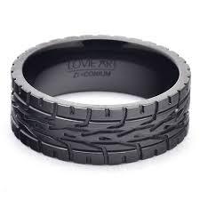 mens black rings men s wedding bands eagle f1 car tire tread ring black