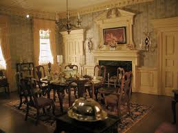 Dollhouse Dining Room Furniture by Colonial Dining Room Very Much In Keeping With The Federal