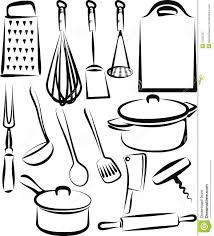 coloriage ustensiles de cuisine illustration d ustensiles de cuisine 6
