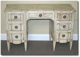 French White Bedroom Furniture by Attributed Jansen Distressed White French Vanity Desk By Lakeview