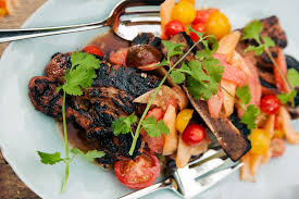 grilled country ribs with melon salad recipe by paul kahan panna