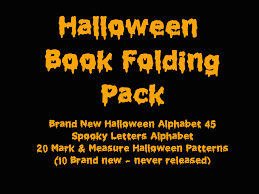 book folding pattern halloween set mark measure and fold