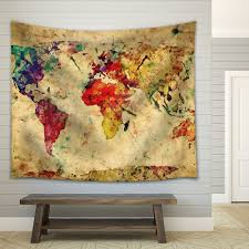Vintage World Map Canvas by Wall26 Com Art Prints Framed Art Canvas Prints Greeting