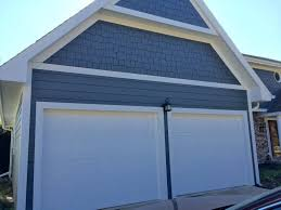 Kansas City Garage Door by Evening Blue Projects James Hardie Siding Installation Kansas City